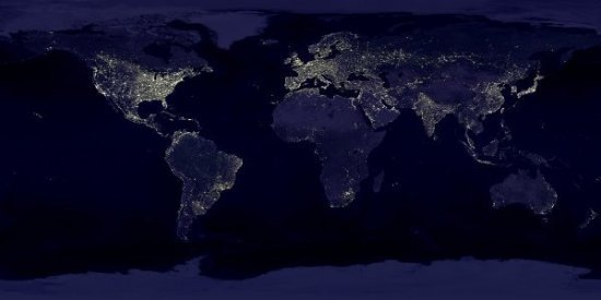 http://commons.wikimedia.org/wiki/File:Earthlights_dmsp.jpg