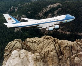 http://commons.wikimedia.org/wiki/File:Air_Force_One_over_Mt._Rushmore.jpg