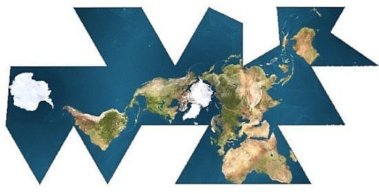 http://en.wikipedia.org/wiki/Image:Dymaxion_map_unfolded.png