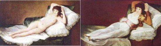http://commons.wikimedia.org/wiki/File:Goya_Maja_ubrana2.jpg