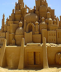 http://commons.wikimedia.org/wiki/File:Sand_sculpture.jpg