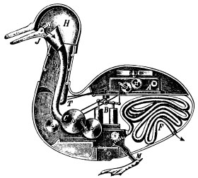 http://commons.wikimedia.org/wiki/File:Duck_of_Vaucanson.jpg