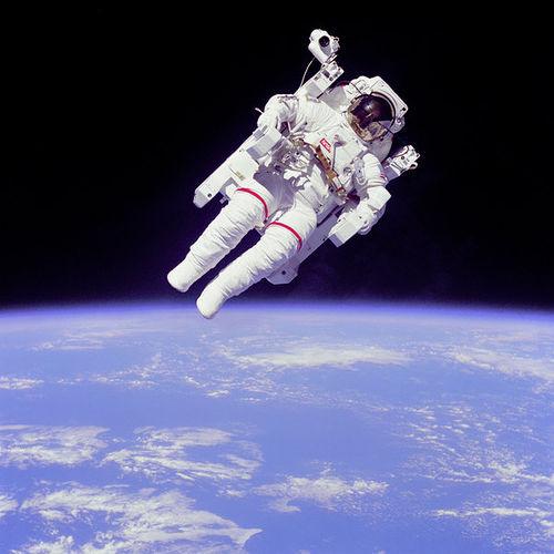 http://commons.wikimedia.org/wiki/File:Astronaut-EVA.jpg