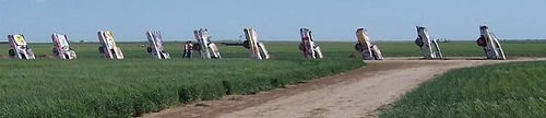 http://en.wikipedia.org/wiki/Image:Mid_range_shot_of_the_Cadillac_Ranch.jpg