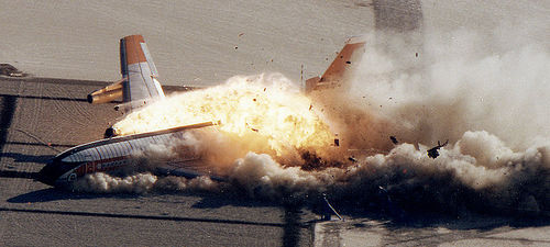 http://commons.wikimedia.org/wiki/File:Boeing_720_Controlled_Impact_Demonstration.jpg