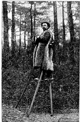 http://en.wikipedia.org/wiki/Image:Sylvain_Dornon%2C_the_stilt_walker_of_Landes_-_Project_Gutenberg_eText_13640.jpg
