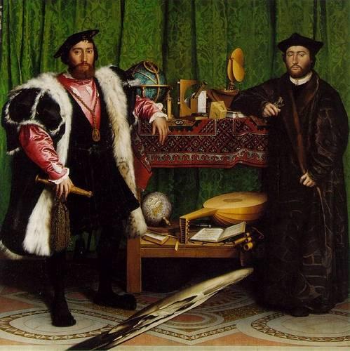 http://en.wikipedia.org/wiki/Image:Holbein_Ambassadors.jpg