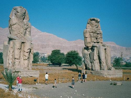 http://commons.wikimedia.org/wiki/File:Egypt.ColossiMemnon.03.jpg