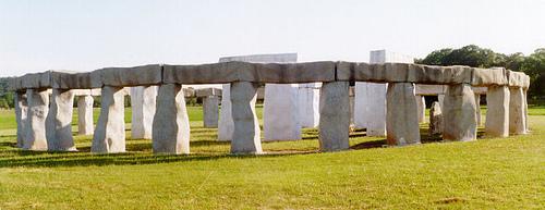 http://commons.wikimedia.org/wiki/File:Stonehenge_texas_01.JPG