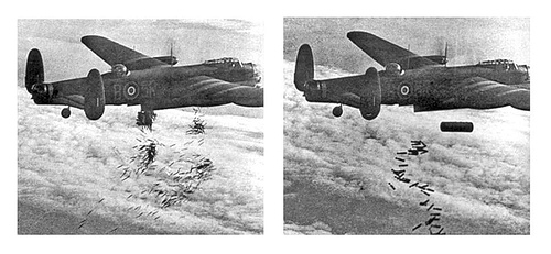 http://commons.wikimedia.org/wiki/Image:Lancaster_I_NG128_Dropping_Load_-_Duisburg_-_Oct_14_-_1944.jpg