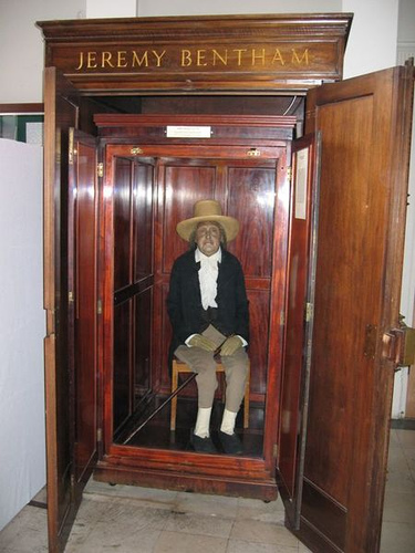 http://commons.wikimedia.org/wiki/File:Jeremy_Bentham_Auto-Icon.jpg