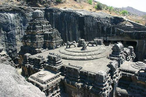 http://commons.wikimedia.org/wiki/File:Ellora_cave16_001.jpg