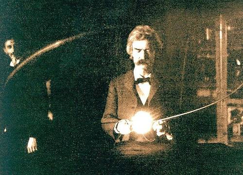 http://en.wikipedia.org/wiki/Image:Twain_in_Tesla%27s_Lab.jpg
