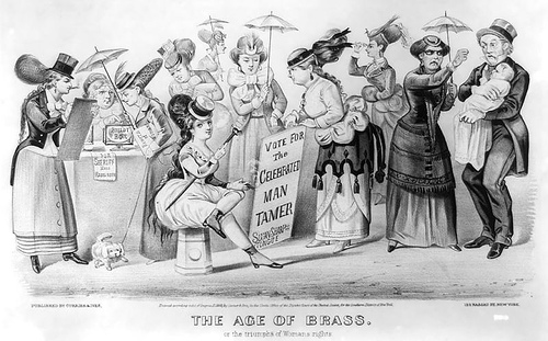 http://commons.wikimedia.org/wiki/File:Age-of-Brass_Triumph-of-Womans-Rights_1869.jpg