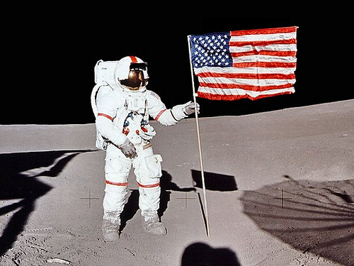 http://commons.wikimedia.org/wiki/File:Apollo_14_Shepard.jpg