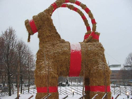http://commons.wikimedia.org/wiki/File:Christmas-Goat.JPG