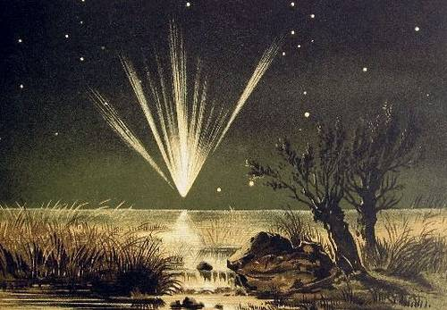 http://commons.wikimedia.org/wiki/File:Great_Comet_1861.jpg