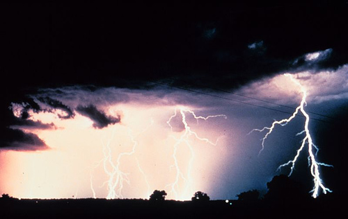 http://commons.wikimedia.org/wiki/Image:Multiple_cloud-to-cloud_and_cloud-to-ground_lightning_strokes_-_NOAA.jpg