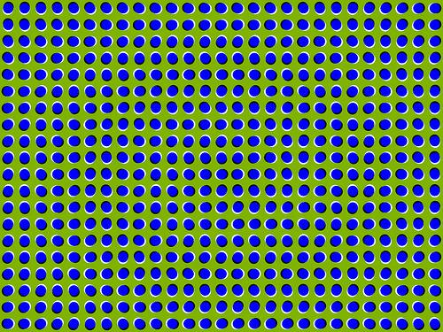 http://en.wikipedia.org/wiki/Image:Anomalous_motion_illusion1.png