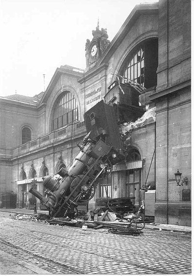 http://commons.wikimedia.org/wiki/File:Train_wreck_at_Montparnasse_1895.jpg