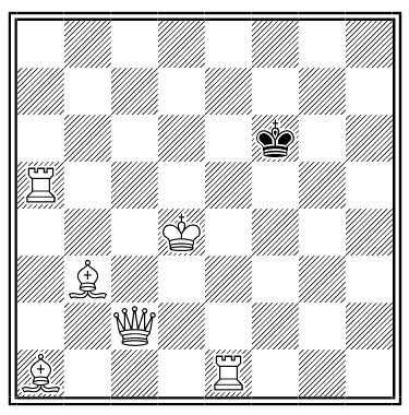 white to mate in less than a move