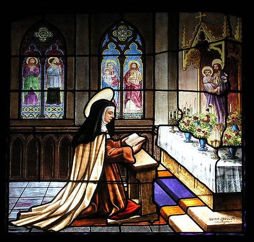 http://commons.wikimedia.org/wiki/Image:Avila_Convento_de_Sta_Theresa_Church_window01.jpg