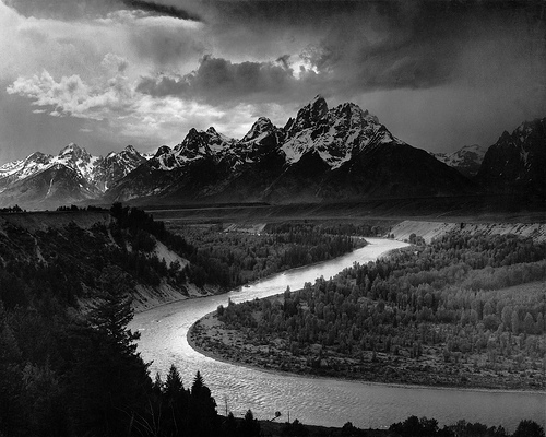 http://commons.wikimedia.org/wiki/Image:Adams_The_Tetons_and_the_Snake_River.jpg