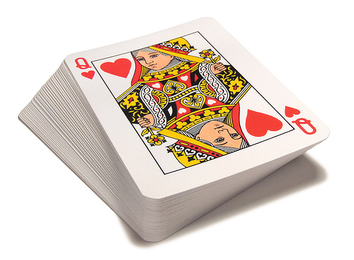 how to turn a deck of cards into money