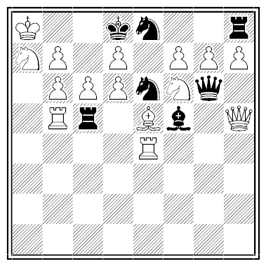 leathem chess puzzle - 28 checks