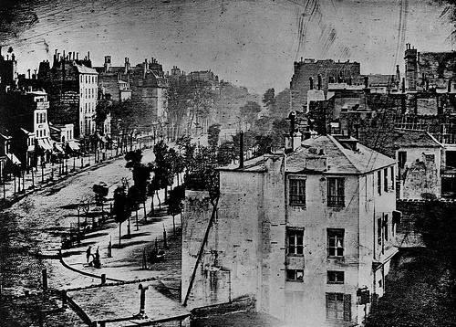 http://commons.wikimedia.org/wiki/File:Boulevard_du_Temple.jpg