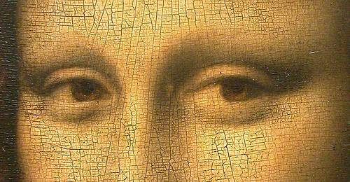 http://commons.wikimedia.org/wiki/File:Mona_Lisa_detail_eyes.jpg