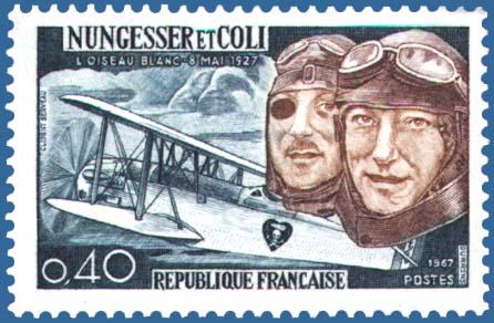 http://en.wikipedia.org/wiki/Image:L%27Oiseau_Blanc_stamp.jpg