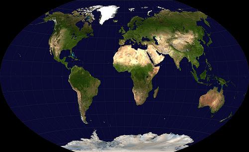 http://commons.wikimedia.org/wiki/File:Winkel-tripel-projection.jpg
