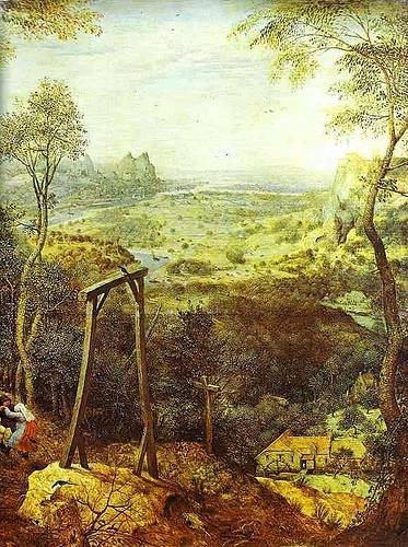 http://commons.wikimedia.org/wiki/Image:Pieter_Bruegel_the_Elder-_The_Magpie_on_the_Gallows_-_detail.JPG
