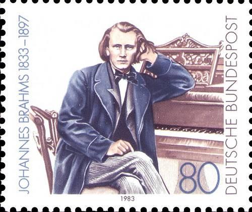 http://commons.wikimedia.org/wiki/File:DBP_-_150_Jahre_Johannes_Brahms_-_80_Pfennig_-_1983.jpg