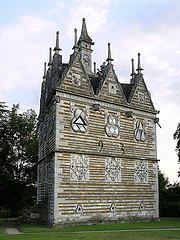 http://commons.wikimedia.org/wiki/File:RushtonTriangularLodge.jpg