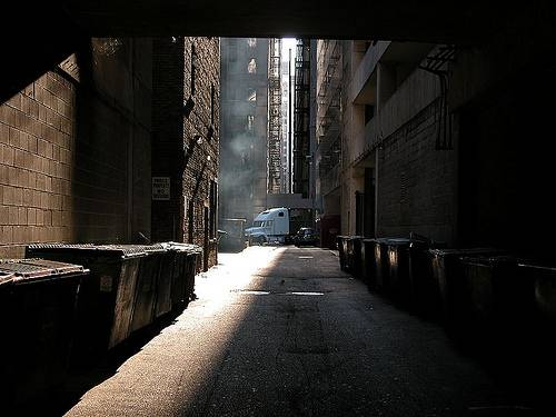 http://commons.wikimedia.org/wiki/File:2003-08-23_Early_morning_alley_in_Chicago.jpg