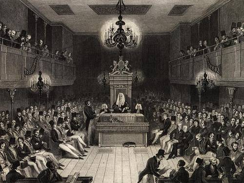 http://commons.wikimedia.org/wiki/File:British_House_of_Commons_1834.jpg