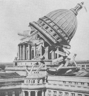 wisconsin state capitol dome collapse hoax
