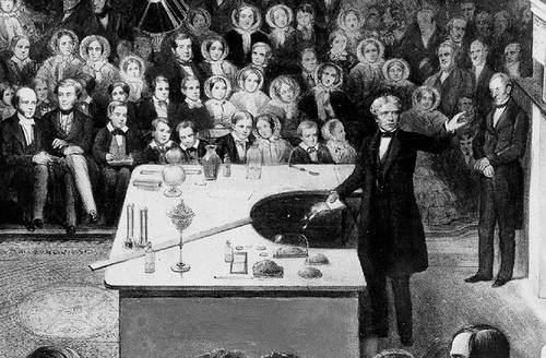 http://commons.wikimedia.org/wiki/File:Faraday_Michael_Christmas_lecture_detail.jpg