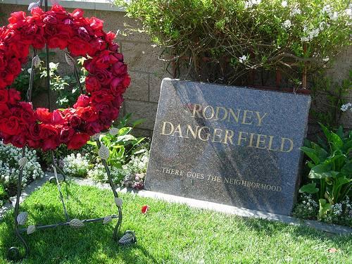 http://commons.wikimedia.org/wiki/File:RodneyDangerfieldGravestoneJuly2007.jpg