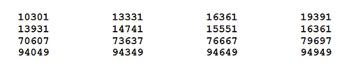 palindromic primes in arithmetic progression 1