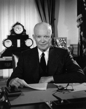 http://commons.wikimedia.org/wiki/File:Eisenhower_in_the_Oval_Office.jpg
