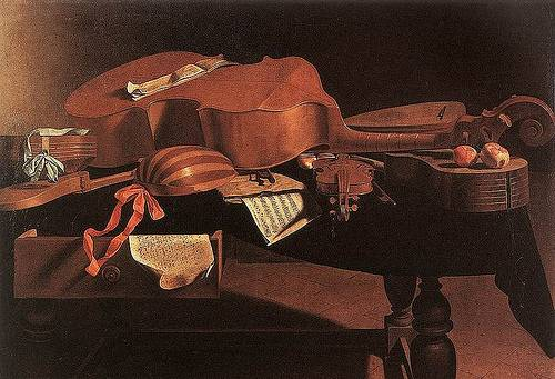 http://commons.wikimedia.org/wiki/File:Baschenis_-_Musical_Instruments.jpg