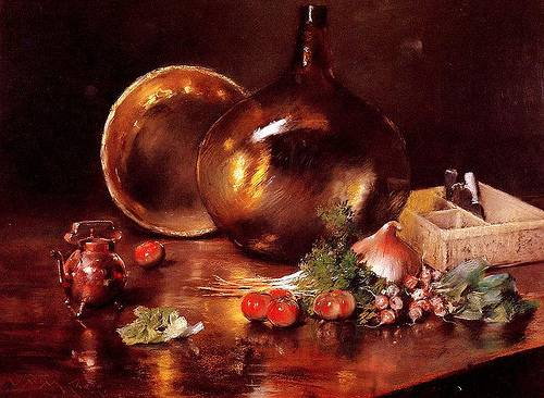 http://commons.wikimedia.org/wiki/File:Chase_William_Merritt_Still_Life_Brass_and_Glass_1888.jpg