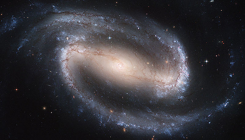 http://commons.wikimedia.org/wiki/File:Hubble2005-01-barred-spiral-galaxy-NGC1300.jpg