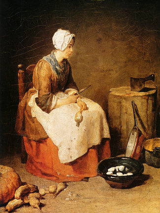 http://commons.wikimedia.org/wiki/File:The_kitchen_maid_by_Jean-Baptiste_Simeon.jpg