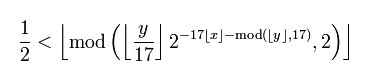 tupper's self-referential formula