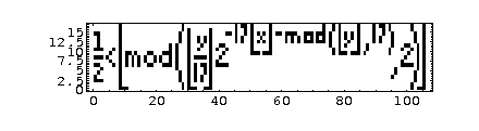 http://commons.wikimedia.org/wiki/File:Tupper's_self_referential_formula_plot.png