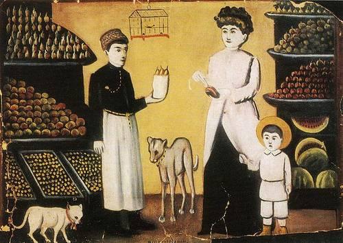 http://commons.wikimedia.org/wiki/File:Niko_Pirosmani._''A_Tatar_Fruit-Seller''._Oil_on_cardboard,_106x78_cm._The_State_Museum_of_Fine_Arts_of_Georgia,_Tbilisi.jpg